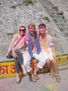 With Friends at Holi Festival